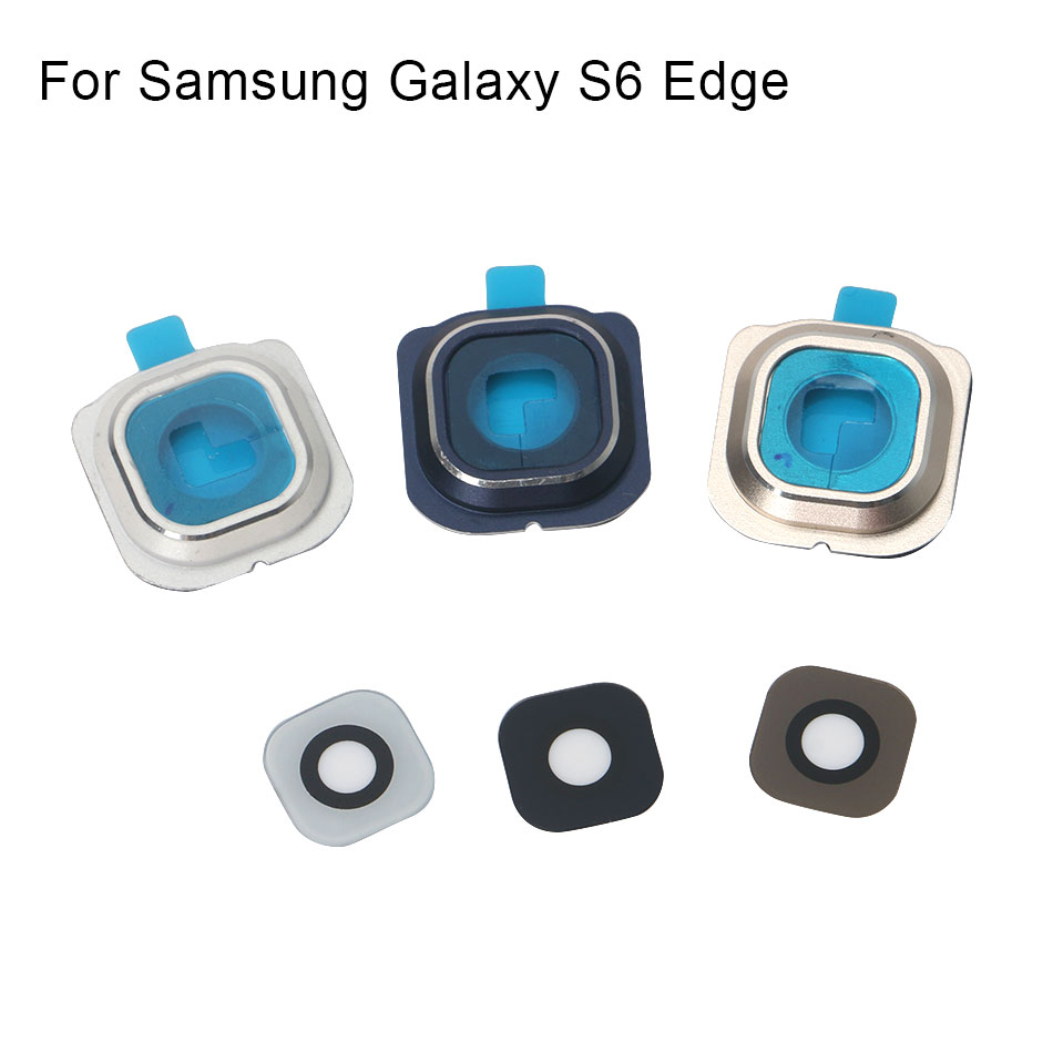 1set For Samsung Galaxy S6 Edge Rear Back Camera Frame Holder Glass Lens Replacement Parts