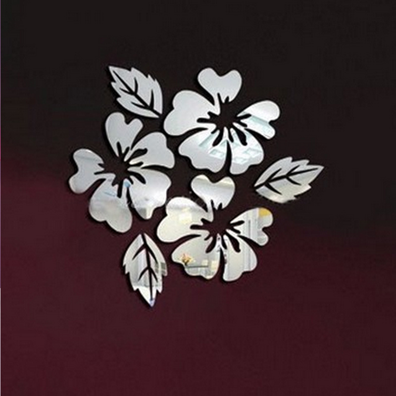 3D sticker new design flowers art sofa bed background modern acrylic ...