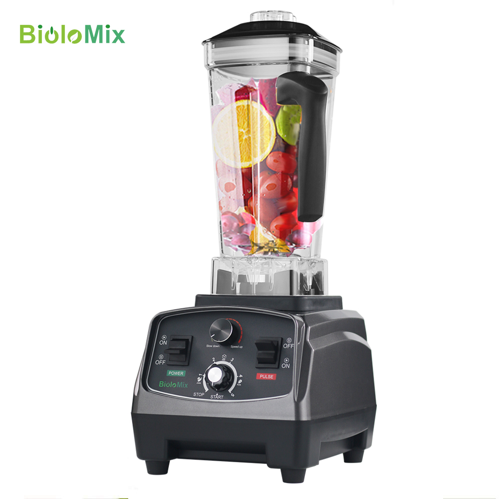 Image 2 - BPA Free Commercial Grade Timer Blender Mixer Heavy Duty Automatic Fruit Juicer Food Processor Ice Crusher Smoothies 2200WBlenders   - AliExpress