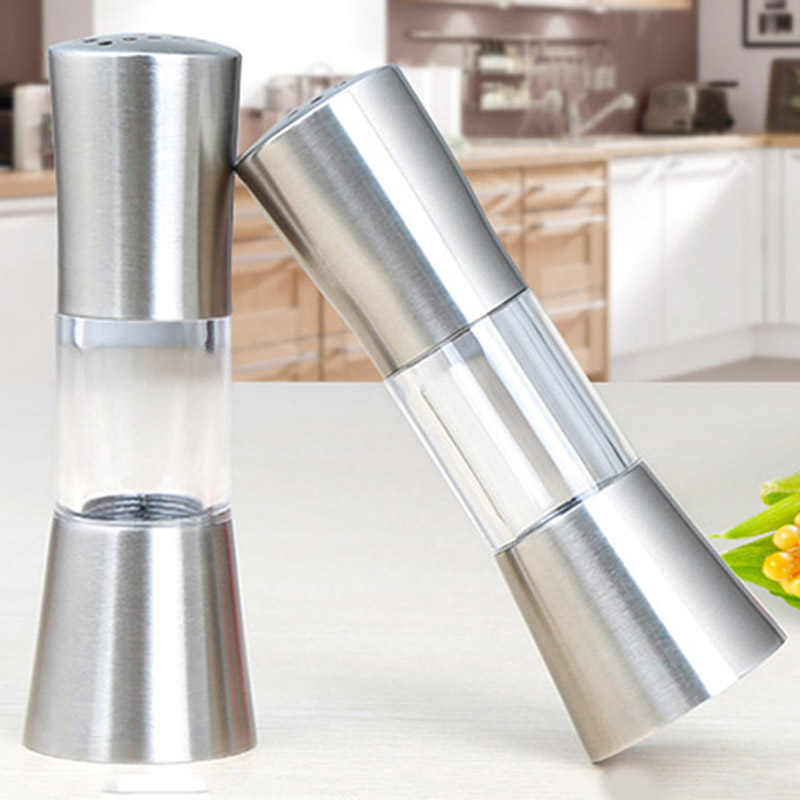 1 Pair Salt and Pepper Shaker Pepper Grinder Salt Shaker Seasoning Kitchen Tools Mills Condiment Storage Pot Spice Jar Holder