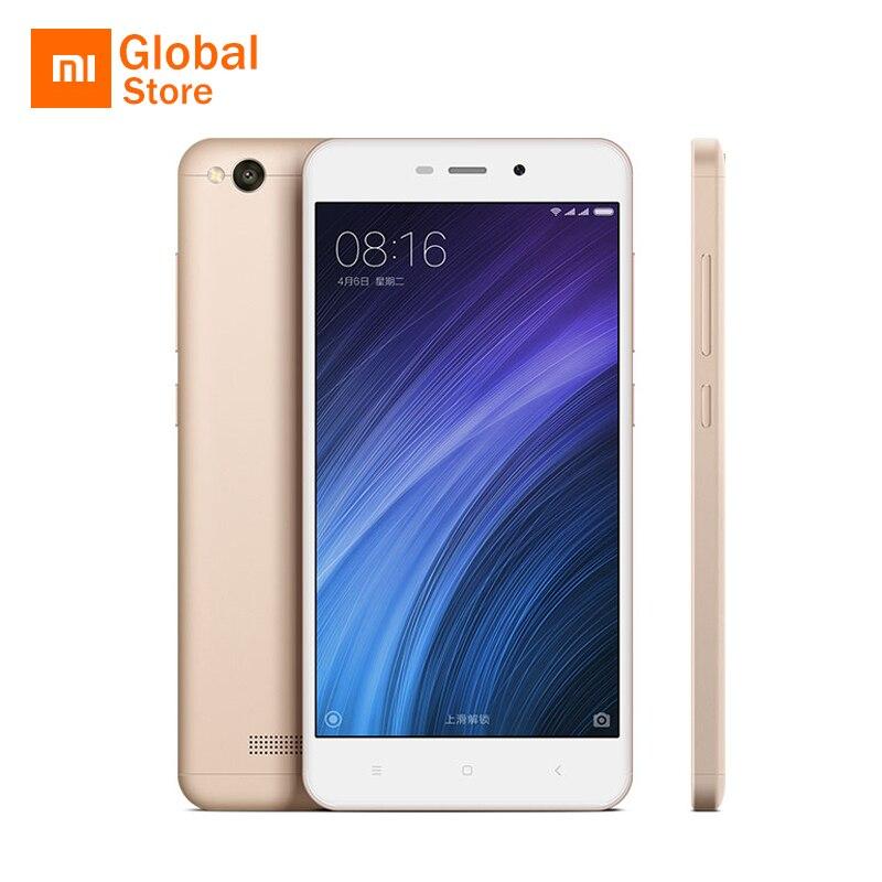"""Оригинальный Xiaomi Redmi 4A 16 ГБ Встроенная память 2 ГБ Оперативная память 4 мобильный телефон Snapdragon 425 4 ядра 13MP 5.0"""" 3120 мАч 4 г LTE смартфон Miui 8"""