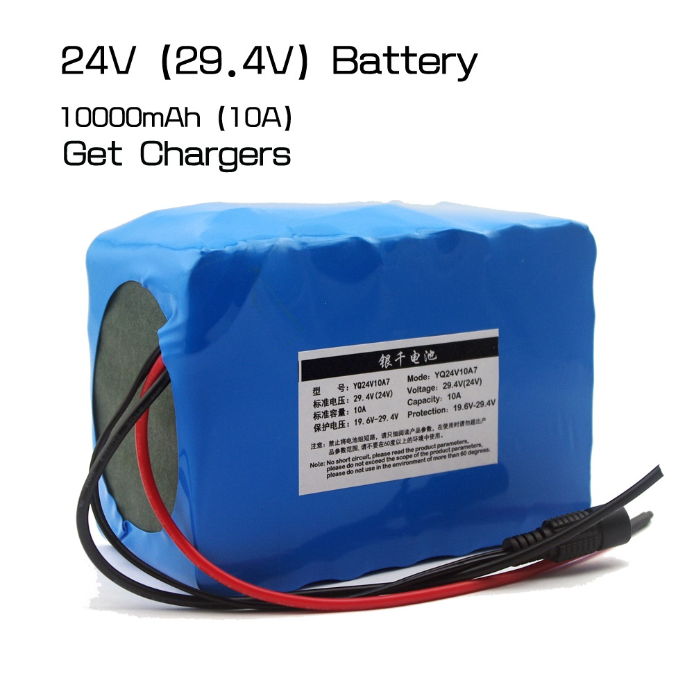 24V / 29.4V 10000mAh lithium-ion battery for portable electronic tools,LED lights, emergency power supply, and mobile power. 3 7v 10000mah mobile power battery polymer lithium battery 6 8 61 96mm
