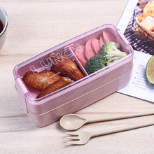 Rectangle Shaped Wheat Straw Food Container