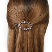 Women headwear 2017 flower hair clip small retro clips for girls cute barrette rhinestone accessories women