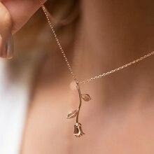 VKME розовое ожерелье с подвеской для женщин 3 цвета винтажное богемное Ботаническое ожерелье Гламурные модные вечерние подарки
