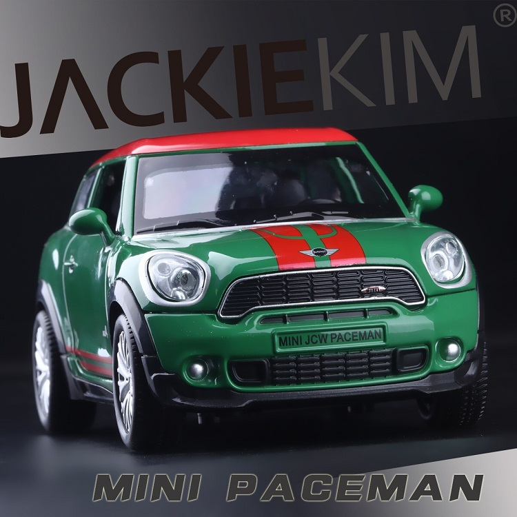 High Simulation Exquisite Diecasts & Toy Vehicles: Double Horses Car Styling MINI John Works Paceman 1:28 Alloy Car Model With Sounds And Light