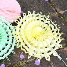 8 Inch 20cm Wholesale Paper Fans For Wedding Tissue Paper Fans Flowers Wedding Favors Birthday Party
