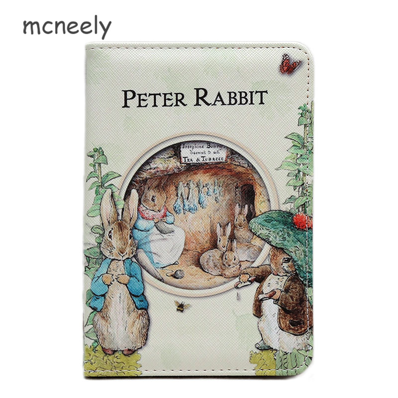 Peter Rabbit Design Passport Covers Leather England Passport Holder Cartoon Credit Card Holder Money Purse Travel Wallets F46-87