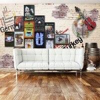 Free Shipping Custom Wallpaper Nostalgic Brewery Violin Background Wall Living Room Hotel Lobby Wallpaper Mural
