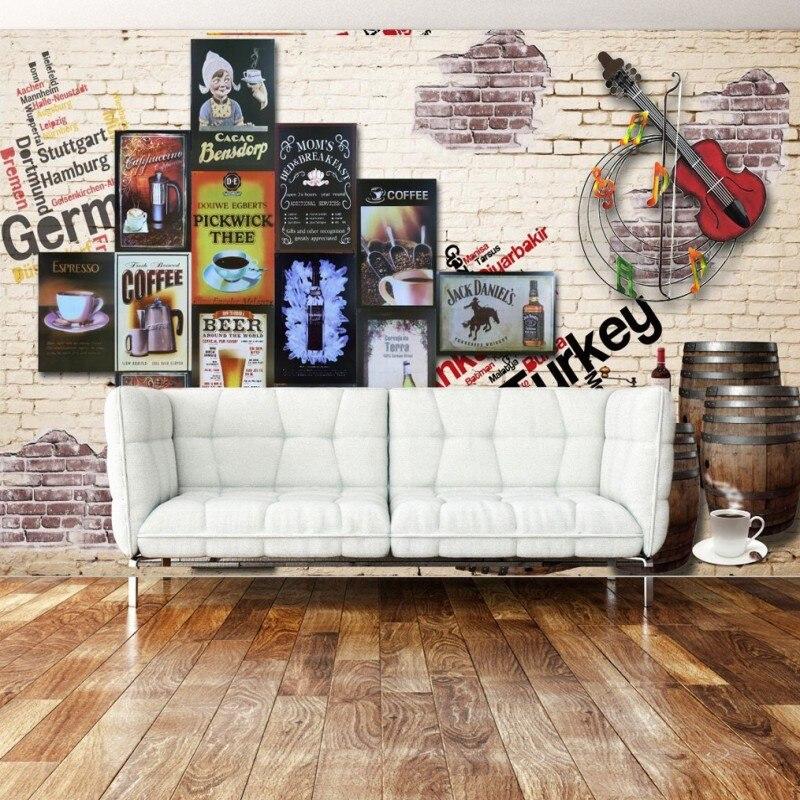photo wallpaper custom wallpaper Nostalgic Brewery Violin Background Wall living room hotel lobby wallpaper mural junran america style vintage nostalgic wood grain photo pictures wallpaper in special words digit wallpaper for living room