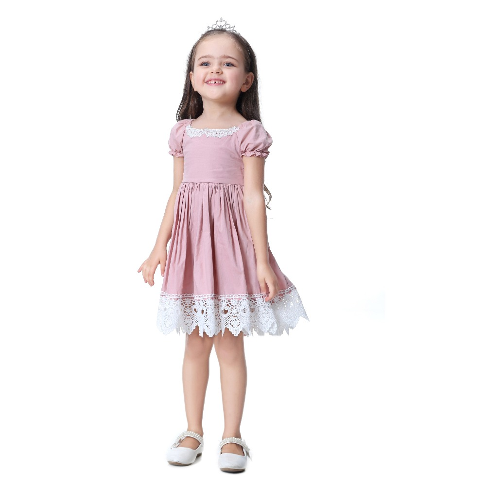 HTB1xBurbPgy uJjSZKzq6z jXXa4 - Toddler Girl Dress Solid Pink Lace Wedding Party Dress 2018 Brand Summer Princess Dresses Clothes Size 1-8 vestido infantil