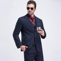 Hot New Men Suits Slim Custom Fit Tuxedo Brand Fashion Groom Wedding Suit Velvet Tuxedo Jacket (Jackets+Pants+Vests)