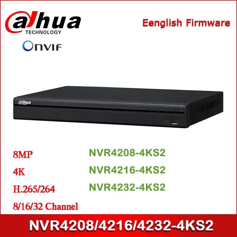 Dahua NVR4208-4KS2 NVR4216-4KS2 NVR4232-4KS2 8/16/32 Channel 1U 4K&H.265 Lite Network Video Recorder