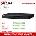 Dahua NVR4208-4KS2 NVR4216-4KS2 NVR4232-4KS2 8/16/32 kanałowy 1U 4K i H.265 Lite sieciowy rejestrator wideo