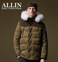 Pre Sale Men Hooded Warm Parka Zipper Pockets Winter Slim Brown Man Apparel Faux Fur Hooded Hot Outwear Coats Wholesale