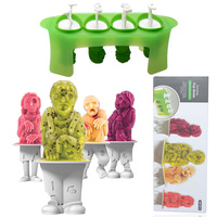 Creative Tiki idol snowman mold home homemade children frozen popsicle ice cream popsicle model