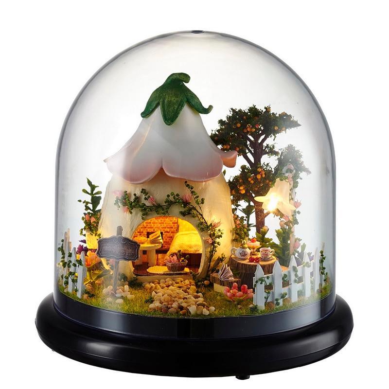 Casa de muñecas CUTEBEE miniatura DIY casa de muñecas con muebles casa de madera para niños Regalo de Cumpleaños humor para juguetes de amor B015