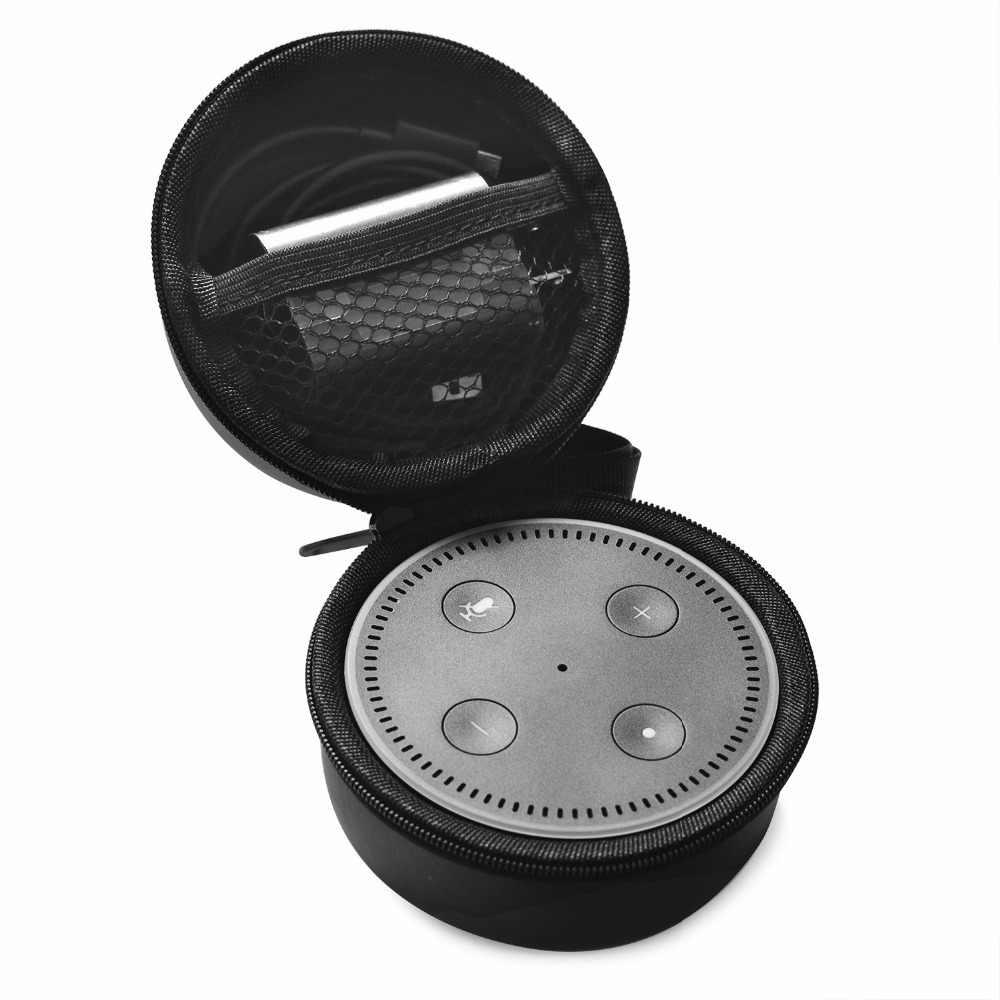 2018 nowy twarde etui EVA, odporna na wstrząsy nosić pudełka do przechowywania podróży pokrowiec ochronny dla Amazon Echo Dot 2nd bezprzewodowy głośnik bluetooth