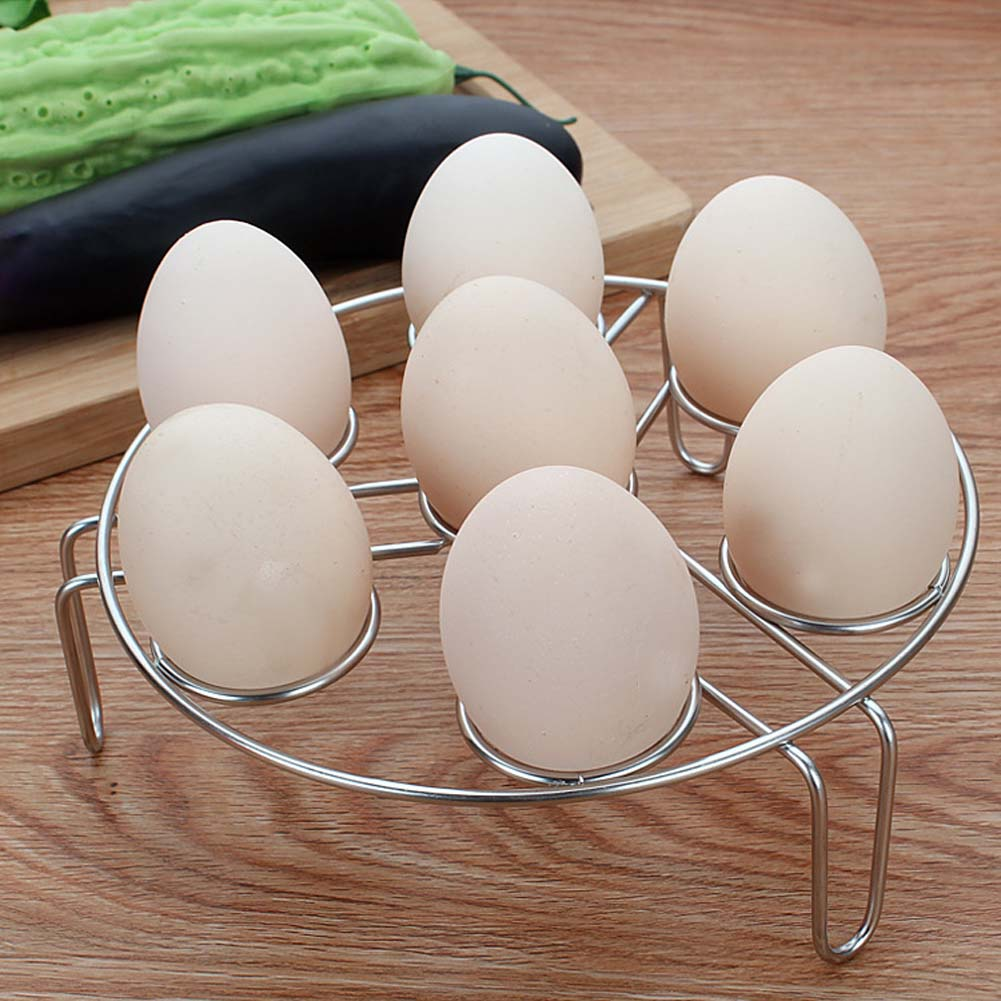 1pcs 6 Holes Stainless Steel Steam Eggs Holders Boiled Egg Poachers Tripod Steam Eggs Rack Cup Egg kitchen Cookware Tools