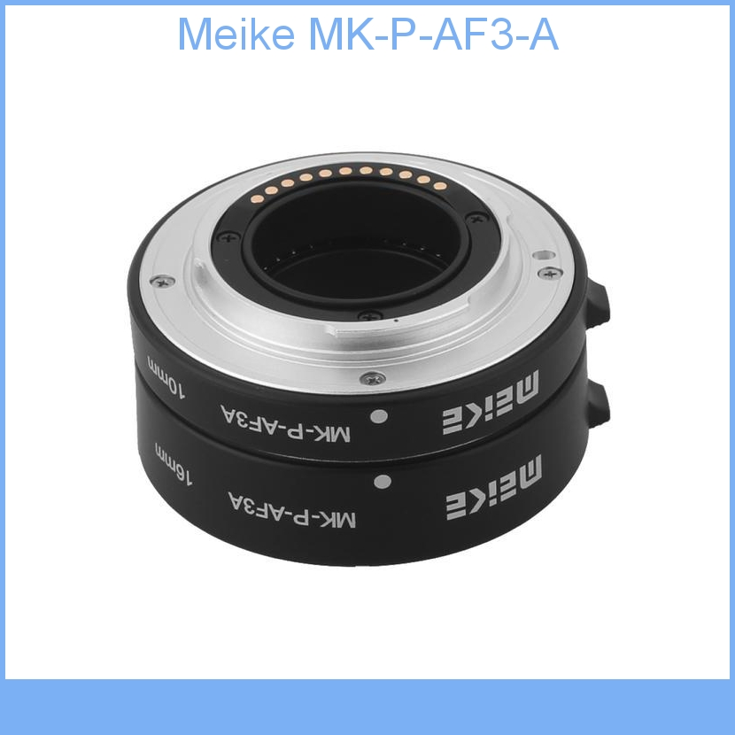Meike MK-P-AF3-A Metal Auto Focus Automatic Macro Extension Tube DSLR (10mm, 16mm) for Panasonic & Olympus Micro 4/3 Camera image