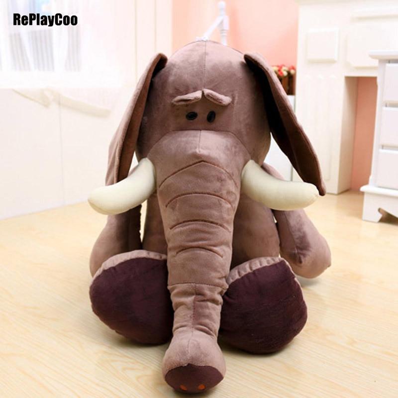 40cm/16'' Kawaii Baby Animal Elephant Style Doll Stuffed Plush Toys Elephant Plush Pillow Bed Cushion Stuffed Gifts For Kids 03 kawaii children s bedroom elephant pillow baby bed cushion gray elephant plush toys children s day birthday gift 53 45 23cm