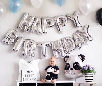 Balon z nadrukiem Happy Birthday Air Letters Alphabe Ramadan z balonów foliowych zabawki dla dzieci wesele urodziny balon helowy Globos Party tanie i dobre opinie FUDANL List PENTAGRAM Serce Folia aluminiowa Dom ruchome Dzień dziecka Prima aprilis Powrót do szkoły Chiński nowy rok