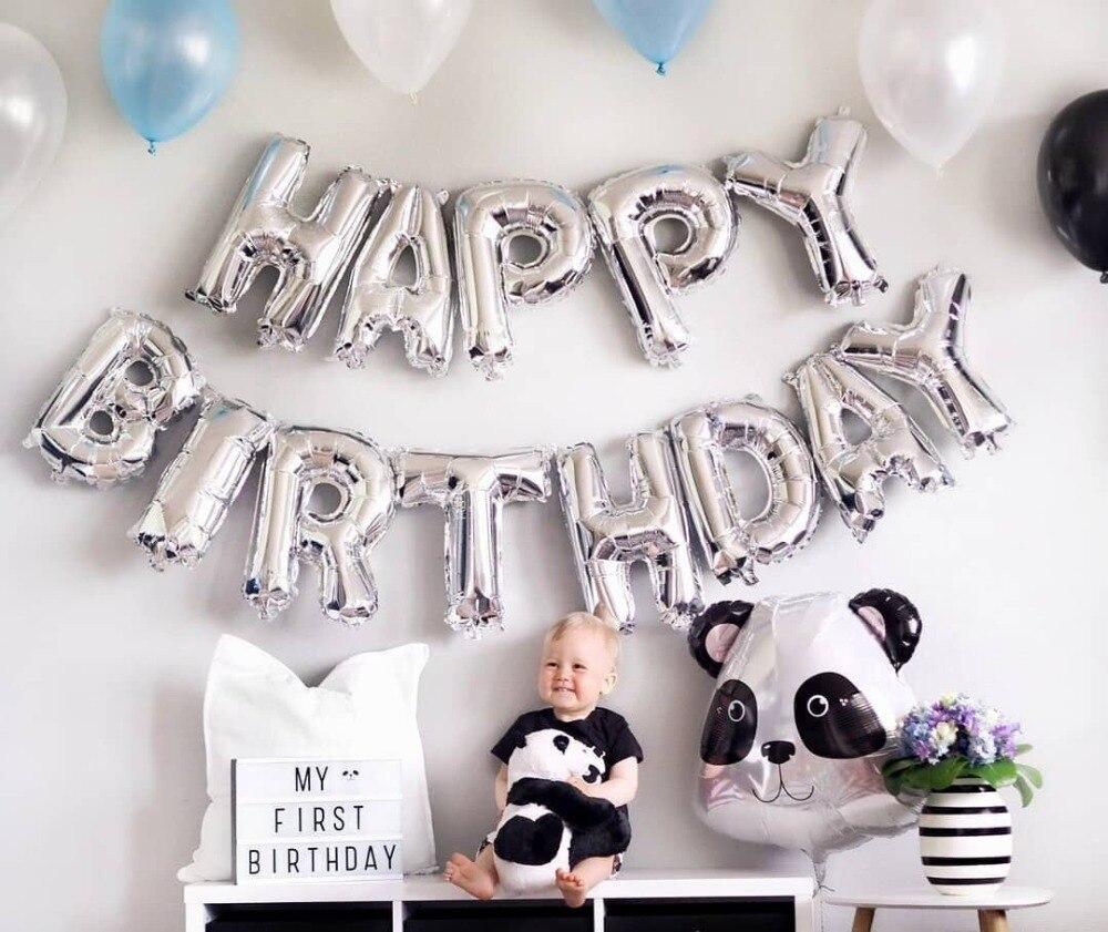 С днем рождения воздушный шар буквы Алфавит висячий Фольга воздущные шары Детские игрушки Свадебная вечеринка день рождения гелий Globos парт...