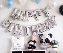 Happy Birthday Balloon Air Letters Alphabe Ramadan Foil Balloons Kids Toy Wedding Party Birthday Helium Globos Party Baloon