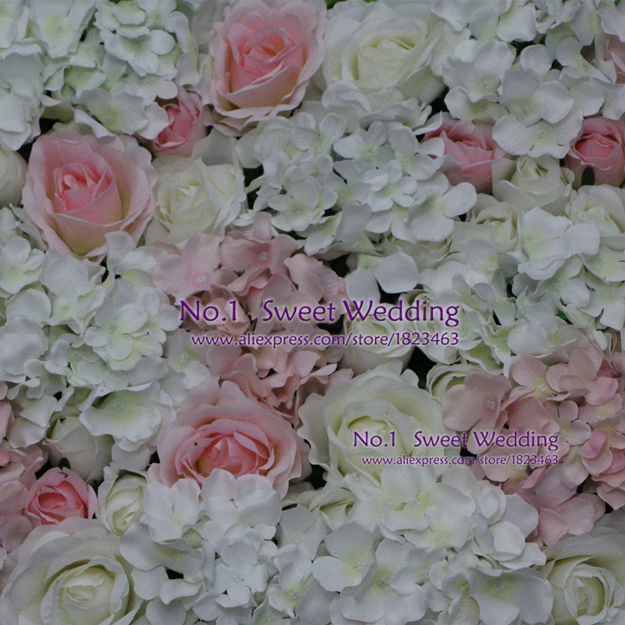 Artificial Flowers Wedding Decoration White Light Pink Rose And