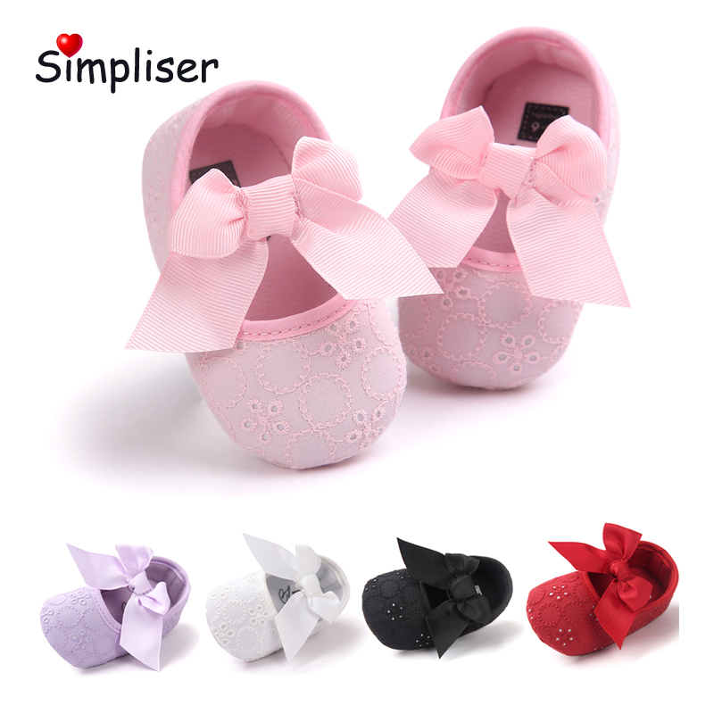 Big bow Cute Baby First Walkers Slip On Soft Sole Infant Toddler Shoes Princess Girls Dress Shoes Party Walking Shoes Footwear
