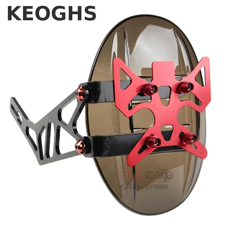 Keoghs Motorcycle Rear Fender Mudguard For Yamaha Kawasaki Suzuki Honda Vespa Aprilia Scooter Modify keoghs motorcycle brake disc floating 220mm 70mm hole to hole for yamaha scooter honda modify