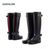 Aleafalling/Сапоги для дождливой погоды, Дизайнерские Сапоги до середины икры, студенческие непромокаемые сапоги, школьная обувь, женская одното...