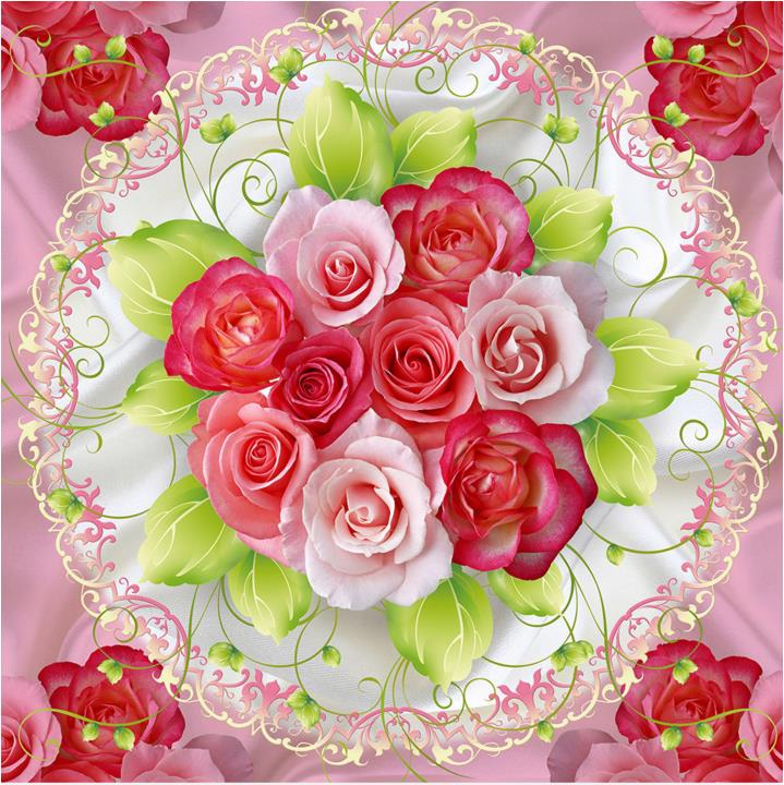 3d floor wallpaper rose romantic wedding room wall papers for Rose adesive