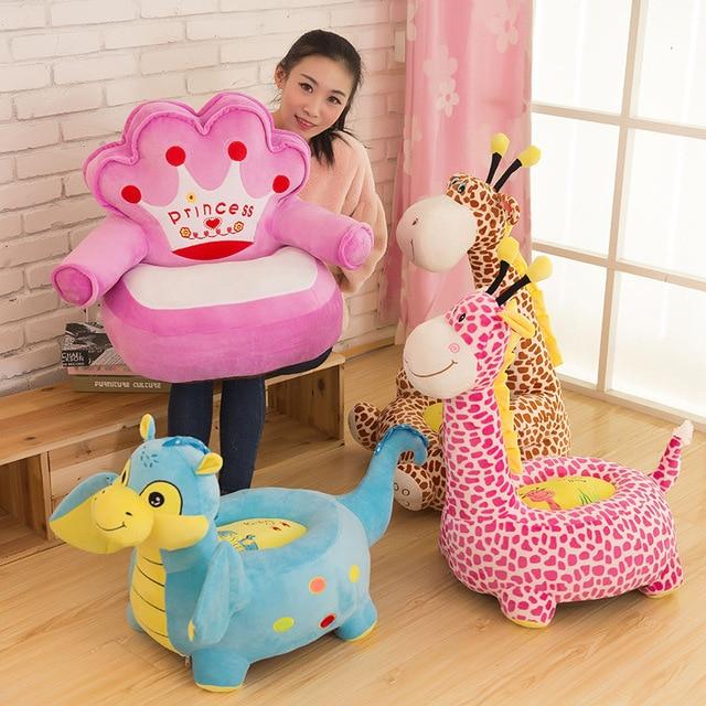 New Arrive  Animals Toy Soft Plush Cusion Sofa Girafe Plush Toy Leisure Sofa Gift for Children Best Present
