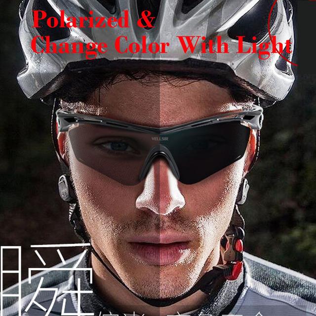 Photochromic Polarizada óculos de Sol Dos Esportes 4 Conjunto de Lentes Intercambiáveis para Ciclismo Corrida Gafas Oculos de sol Mudam de Cor Rápida