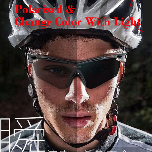 Photochromic Polarized Sports Sunglasses 4 Set Interchangeable Lenses for Biking Running Gafas Oculos De Sol Change Color Fast