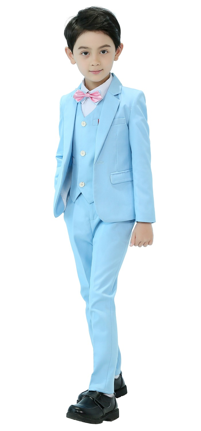 5 Piece Boys Suits Slim Fit 2 Color Ring Bearer Suit For Boys Formal Classic Costume Weddings цена 2017