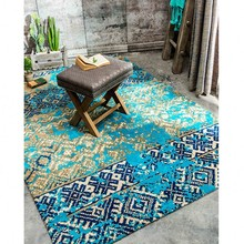 Mediterranean blue style wedding carpet blue living room ground mat 200 300cm bedside rug home decoration