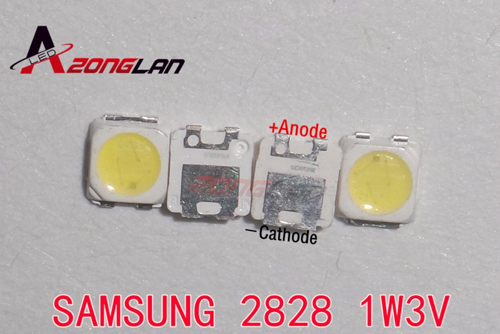 50pcs 2828 Led Backlight Tt321a 1.5w-3w With Zener 3v 3228 2828 Cool White Lcd Backlight For Tv Tv Application Sm Active Components Diodes