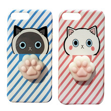 Besegad Cute 3D Cat Silicone AntiStress Squishy Slow Rising Protector Case Cover Skin Shell for Apple iPhone 6 6S S 7 7S 8 Plus(China)