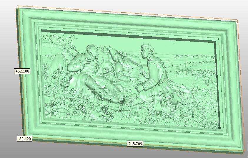 3D STL Modell für CNC Router Engraver Carving Maschine Erleichterung Artcam aspire M3