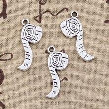 20 pçs encantos fita medida régua 27x11mm bronze antigo prata cor pingentes fazendo diy artesanal tibetano bronze jóias