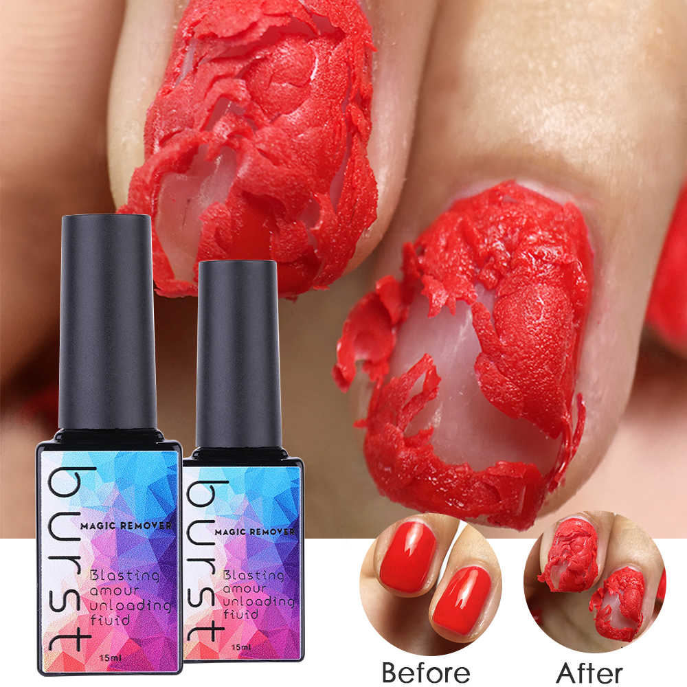 15 ml Magic Nail Burst Gel Nagellak Remover Gezonde Snelle Losweken Gel Nagellak UV 2 min Snel schoon Base Top Coat TSLM1