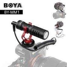 ボヤBY MM1 カメラビデオマイクショットzhiyun用マイクスムーズ 4 dji osmoデジタル一眼レフカメラiphone 7 6 のandroidスマートフォン