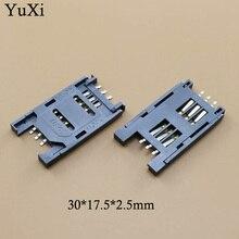 YuXi 100 sztuk/partia SIM gniazdo kart 6 P SMT TF czytnik kart pamięci/gniazdo/miejsc/uchwyt do telefonów,