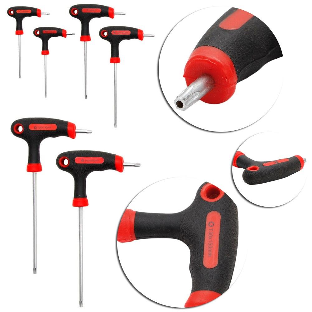 T-Handle Grip Torx /& Hex Allen Key Screwdriver Driver Tool T10//15//20//25//30//40