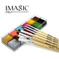 IMAGIC Face Painting12 Colors Flash Tattoo Face Body Paint with Brush Makeup Pigment Christmas helloween make up
