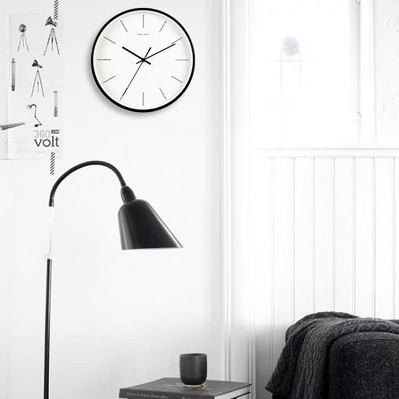 Geekcook современная мода 12 дюймов большие металлические настенные часы бесшумные настенные часы кварцевые часы для спальни гостиной