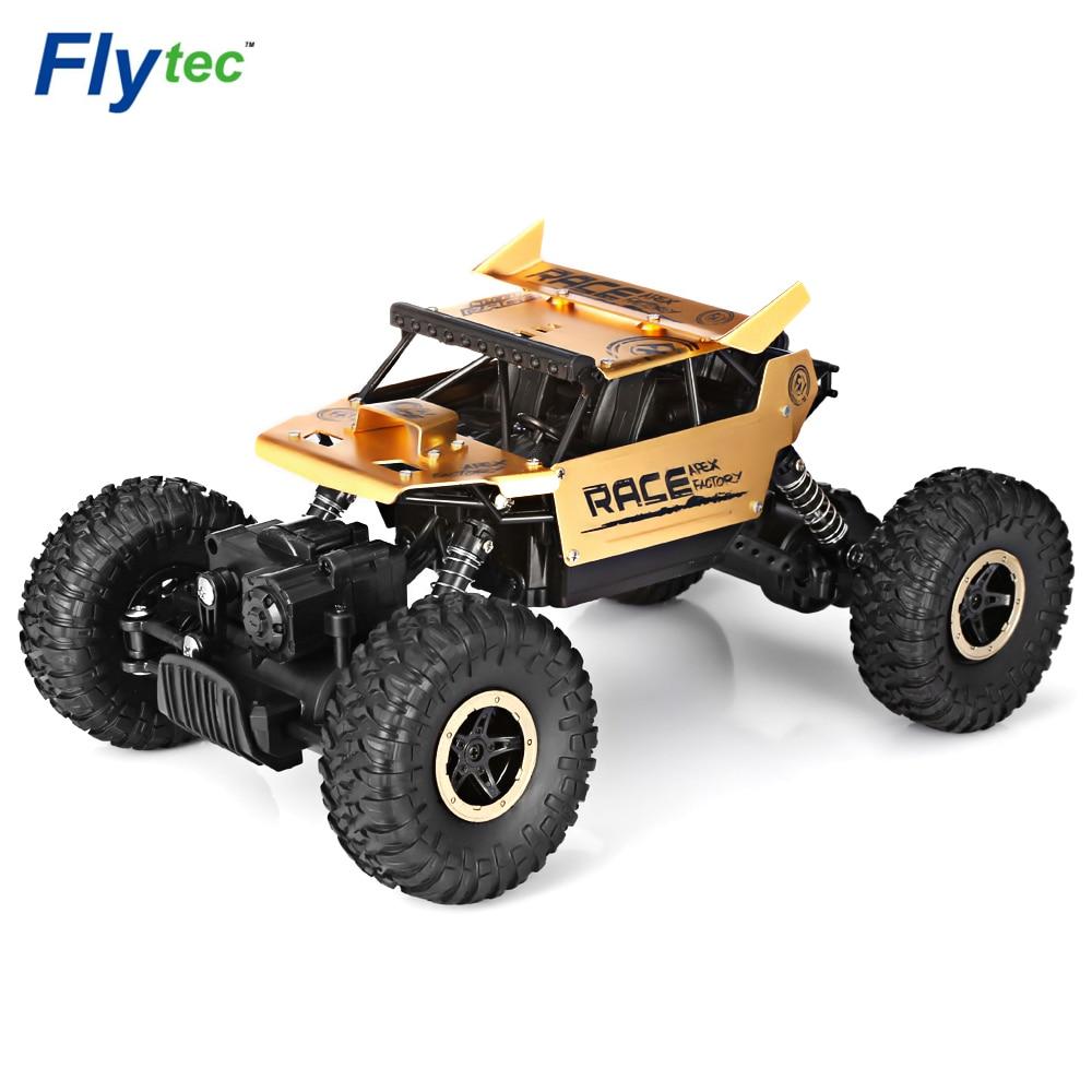 Flytec 9118, 1/18, 2,4g 4WD Rock RC Aleación de rastreadores RC escalada de carreras de alta velocidad camiones Clamber Off-Road vehículo de juguete juguetes de RC