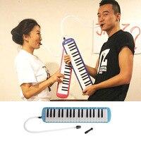 פלסטיק שופר מוסיקה מקלדת פסנתר 37 מפתחות מלודיקה מכשיר + תיק כחול רוח כלי נשיפה מעץ עממי & Melodicas העולם